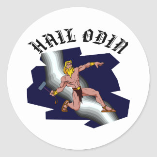 Hail Odin Classic Round Sticker