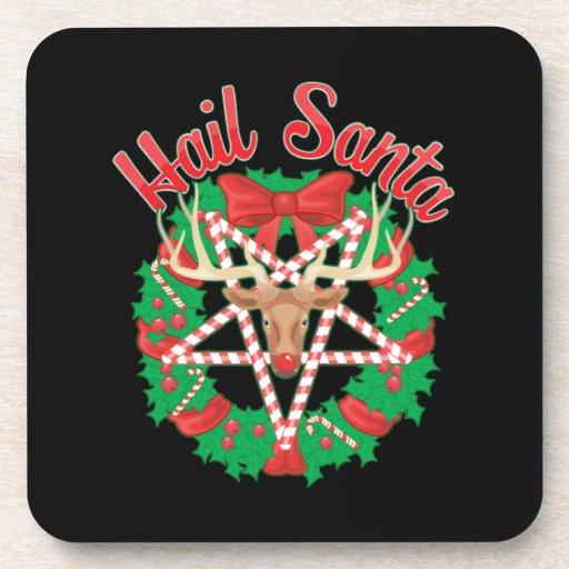 Hail Santa! Beverage Coaster