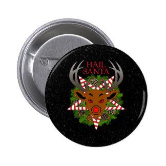 Hail Santa 2 Inch Round Button