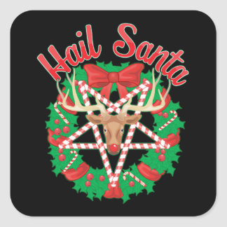 Hail Santa! Square Sticker