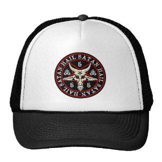 Hail Satan Baphomet Goat in Pentagram Trucker Hat