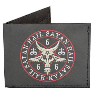 Hail Satan Baphomet Goat's Head Satanic Pentagram Tyvek Wallet