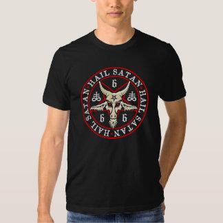 """Hail Satan"" Baphomet in Pentagram Pagan Shirts"