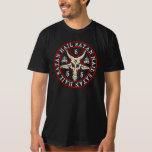 """""""Hail Satan"""" Baphomet in Pentagram Pagan T Shirt"""