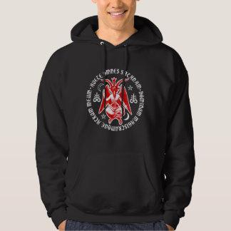 Hail Satan Baphomet with Satanic Crosses Hoodie
