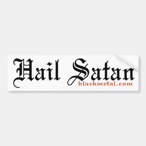 Hail Satan Bumpersticker Car Bumper Sticker
