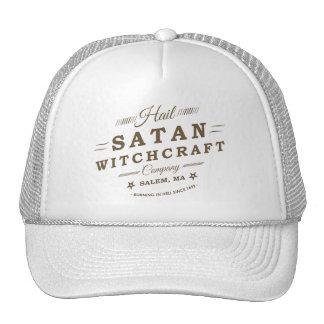 Hail Satan Salem MA Goth Witchcraft Logo Trucker Hat