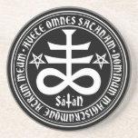 Hail Satan - Satanic Cross Coaster