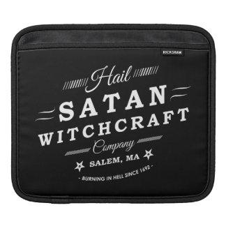 Hail Satan Witchcraft Co Salem MA Vintage Logo Sleeve For iPads