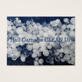 Hail, Seasonal Damage Ice Snow Clean Up Business Card