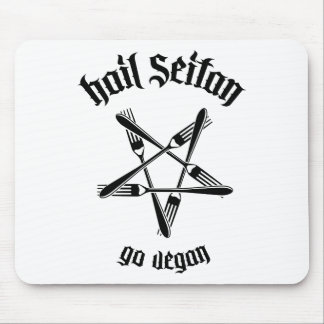 Hail Seitan 1.1 (black) Mouse Pads