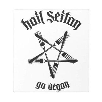 Hail Seitan 1 1 black Scratch Pad