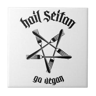 Hail Seitan 1.1 (black) Tile