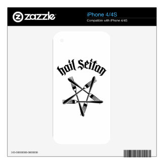 Hail Seitan 1.2 (black) Decal For The iPhone 4