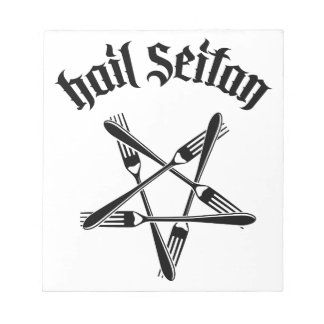 Hail Seitan 1 2 black Scratch Pad