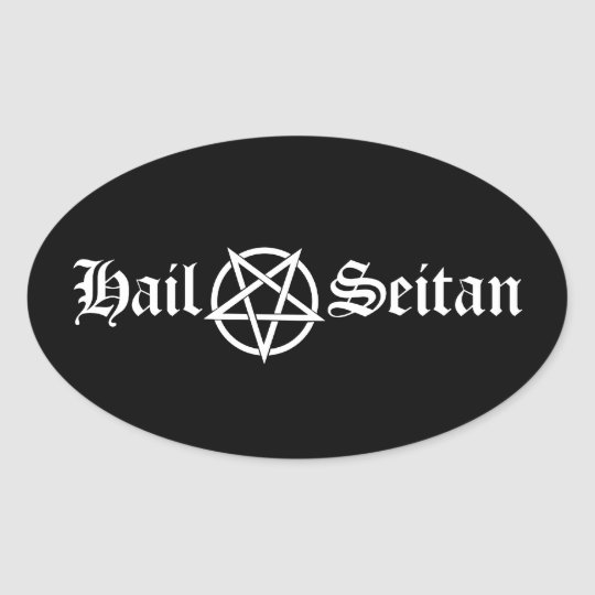 Hail Seitan Oval Sticker