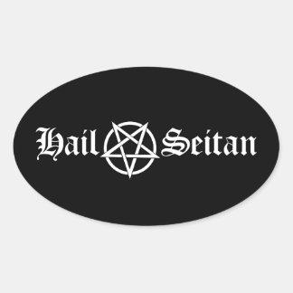Hail Seitan Stickers Oval Sticker