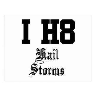 hail storms postcard