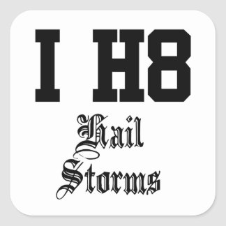 hail storms square sticker