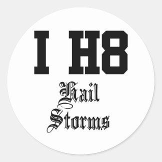 hail storms sticker