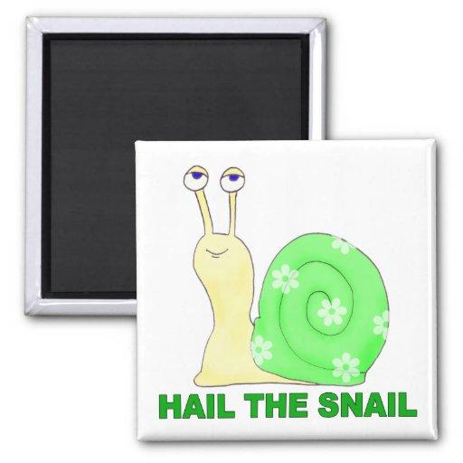 Hail the snail fridge magnets