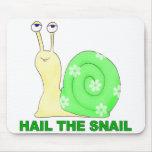Hail the snail mouse mat