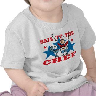 Hail To The BBQ Chef Tee Shirts