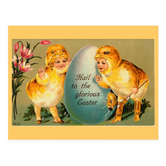 Hail To The Glorious Easter Vintage Postcard
