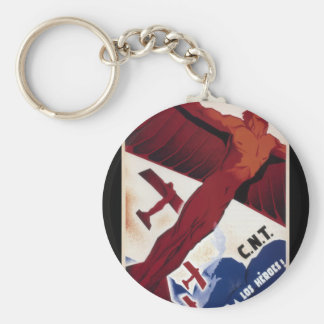 Hail to the heroes!_Propaganda Poster Keychain