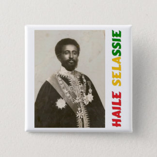 Haile Selassie Badge Button
