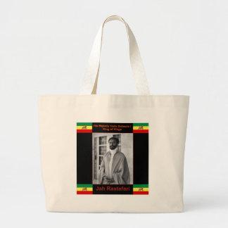 Haile Selassie el león de Judah, Jah Rastafari Bolsa Tela Grande