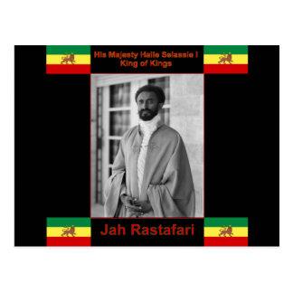 Haile Selassie el león de Judah, Jah Rastafari Postal
