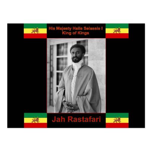 Haile Selassie el león de Judah, Jah Rastafari Postales
