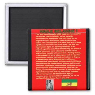 Haile Selassie Famous War Speech to UN 1963 2 Inch Square Magnet