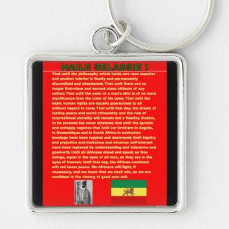Haile Selassie Famous War Speech to UN 1963 Keychain