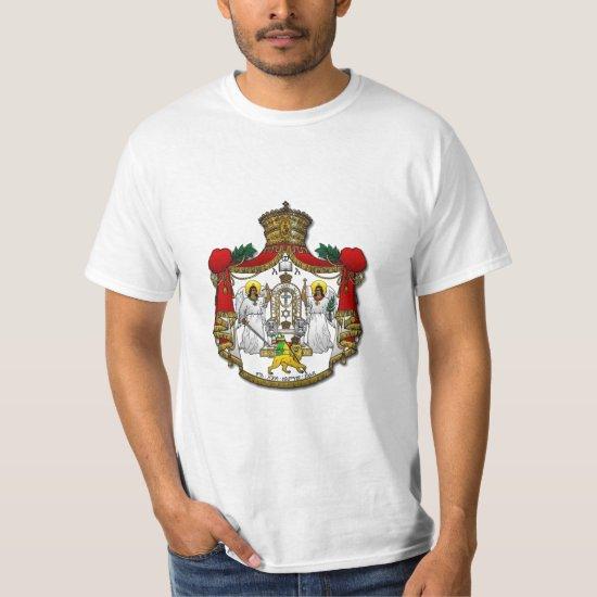 Haile Selassie I Crest - White T-Shirt
