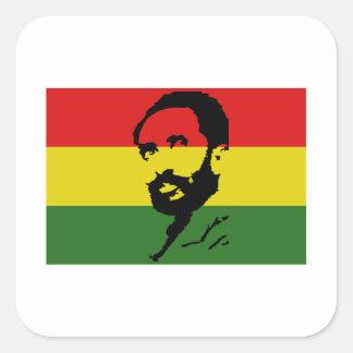 Haile Selassie I Square Sticker