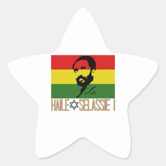 Haile Selassie I Star Sticker