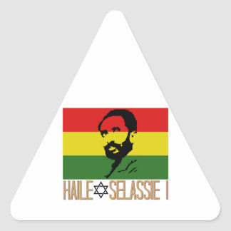 Haile Selassie I Triangle Sticker