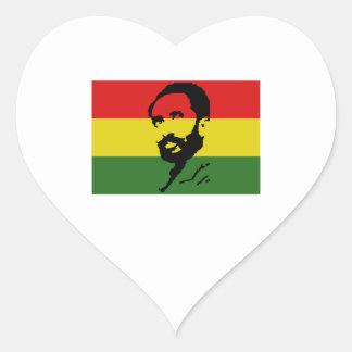 Haile Selassie I Heart Sticker