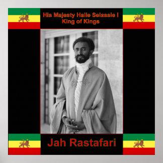 Haile Selassie Jah Rastafari Large Print on Canvas