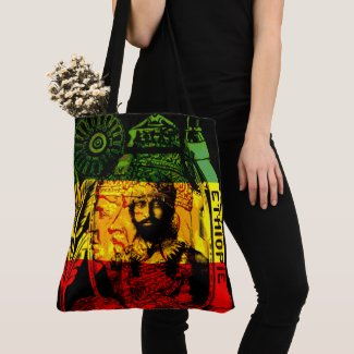 Haile Selassie Rastafarian Cross Body Bag