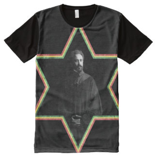 Haile Selassie Star of David All-Over-Print Shirt