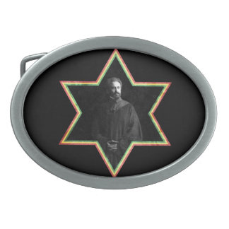 Haile Selassie Star of David Belt Buckle