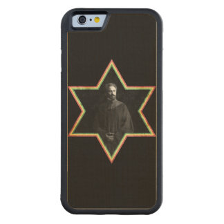 Haile Selassie Star of David Carved® Maple iPhone 6 Bumper