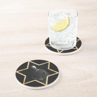 Haile Selassie Star of David  j Drink Coaster