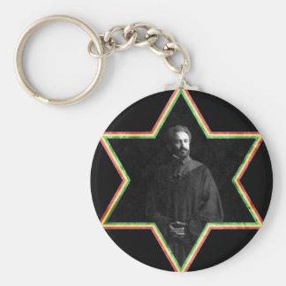 Haile Selassie Star of David Key Chains