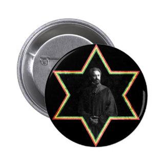 Haile Selassie Star of David Pinback Button
