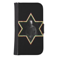 Haile Selassie Star of David Wallet Phone Case For Samsung Galaxy S4