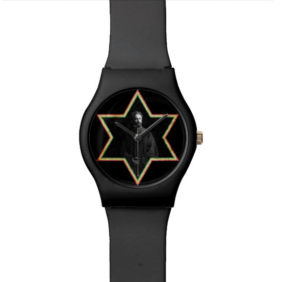 Haile Selassie Star of David Wrist Watch